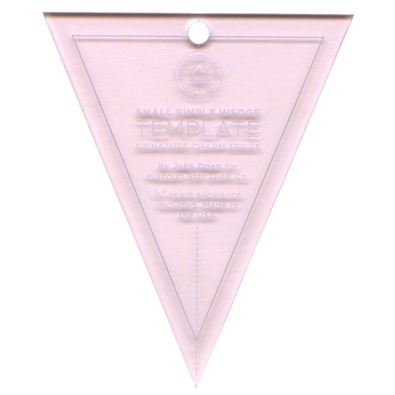 Missouri Star Limited Edition Pink Small Simple Wedge Template