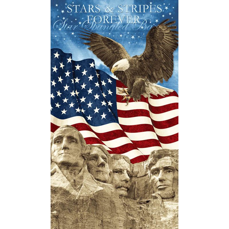 Stonehenge Stars and Stripes VI - Mt Rushmore Navy Panel