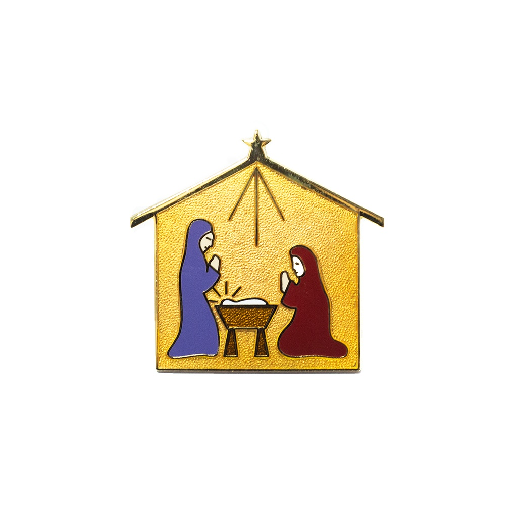 Nativity Scene Blue Pin by Pin Peddlers