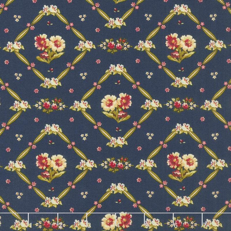 Bricolage - Floral Trellis Navy Yardage