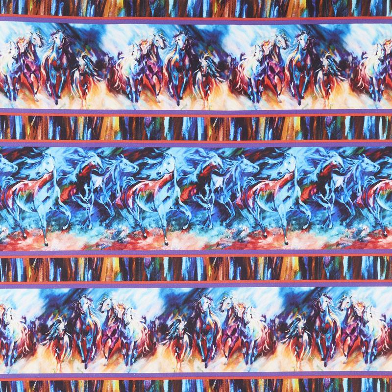 Painted Horses - Stripe Multi Yardage
