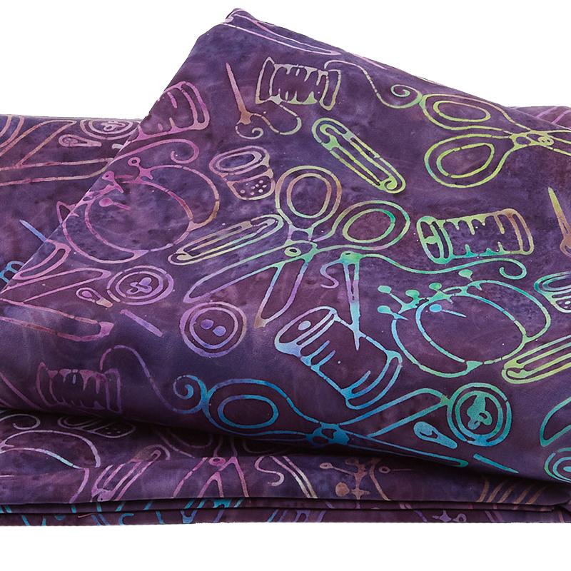 Sew Fine Batiks - Notions Purple 5 Yard Cut