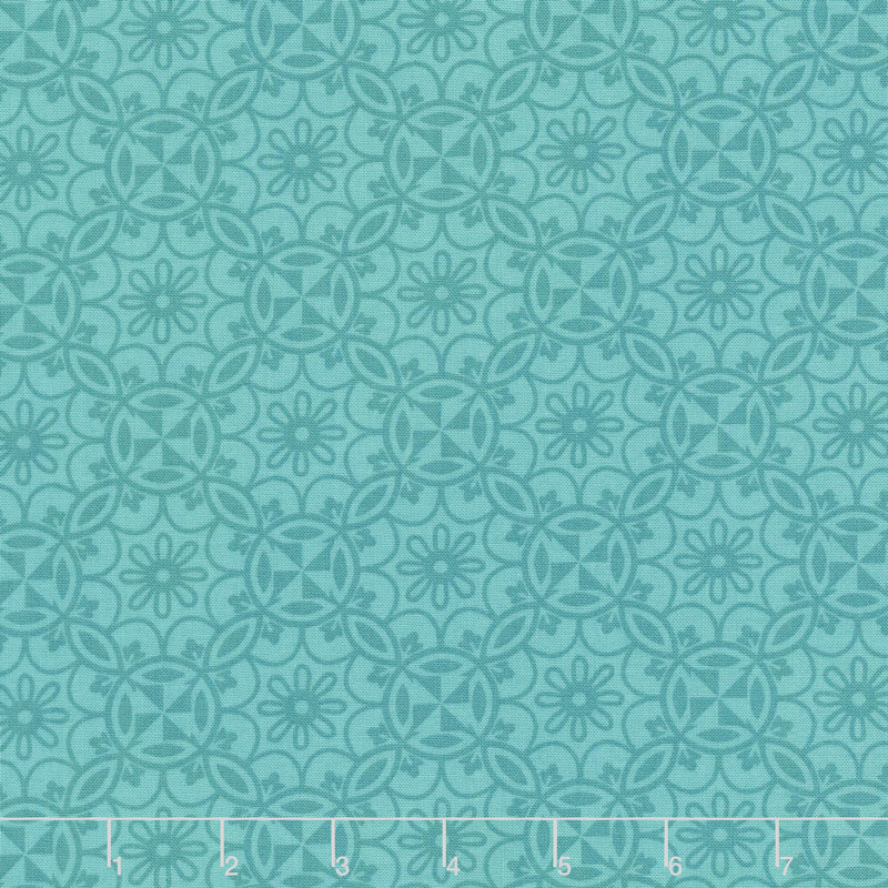 Home Grown - Medallion Teal Yardage