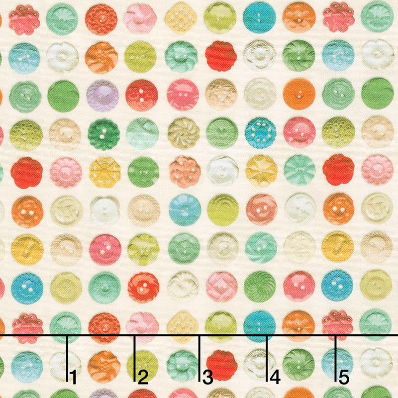 Flea Market Mix - Bakelite Buttons Parchment Yardage