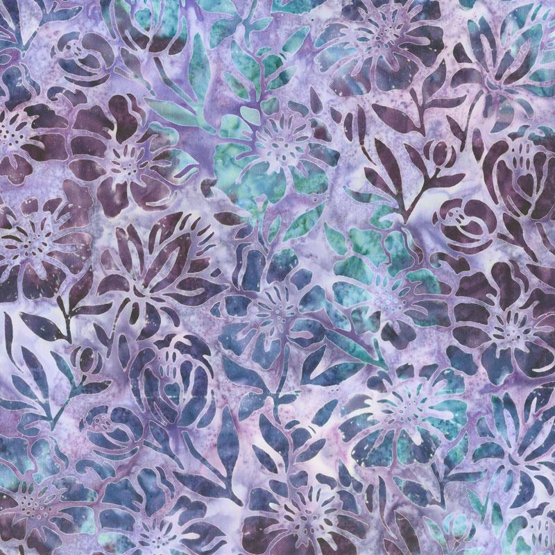 Artisan Batiks - Anemone Large Flowers Plum Yardage