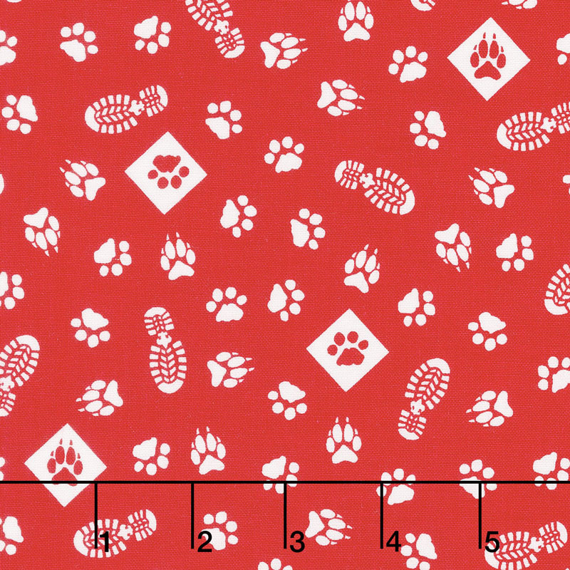 Cub Scouts - Cub Scouts Paws Red Yardage
