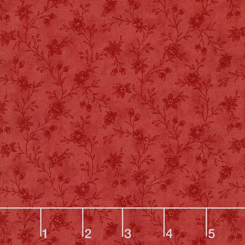 Snowberry - Floral Vine Berry Yardage