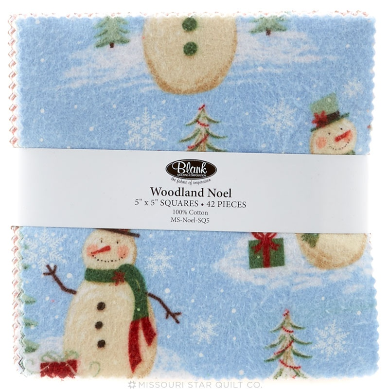 Woodland Noel Flannel Charm Pack