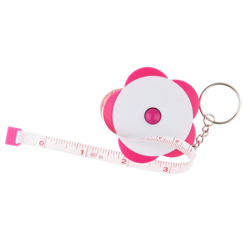 Flower Measuring Tape Key Chain