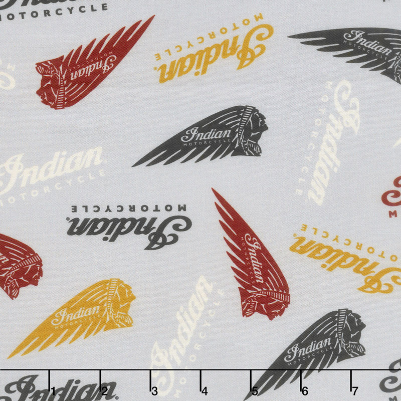Indian Motorcycle - Logos Gray Yardage