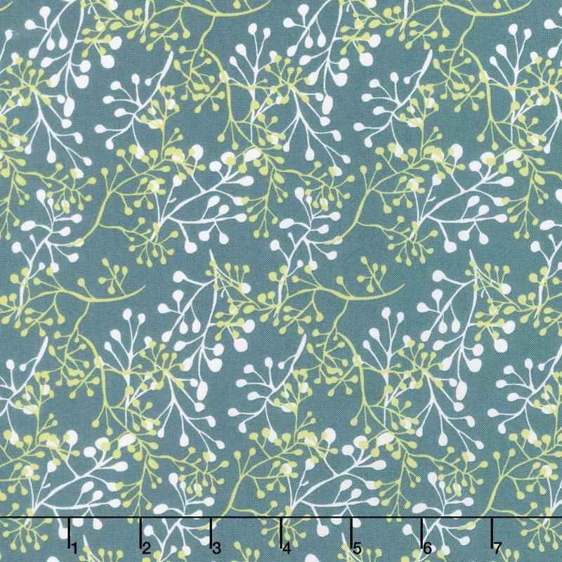 Painted Meadow - Little Sprigs Teal Yardage