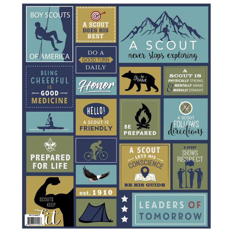 A Scout Is - Scout Navy Panel