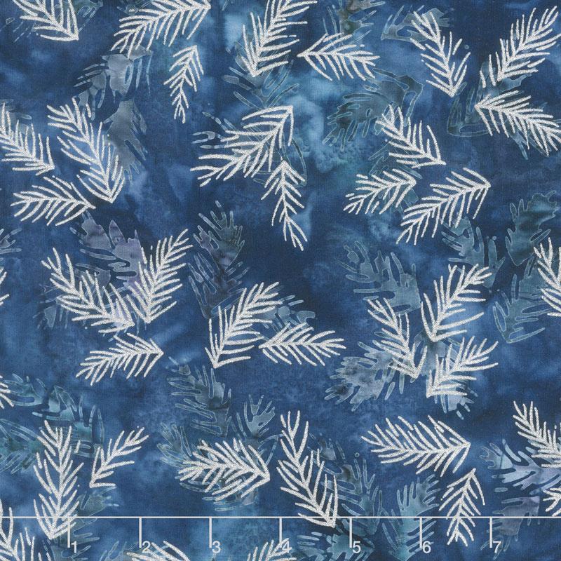 Artisan Batiks - Northwoods 8 Twigs Winter Metallic Yardage