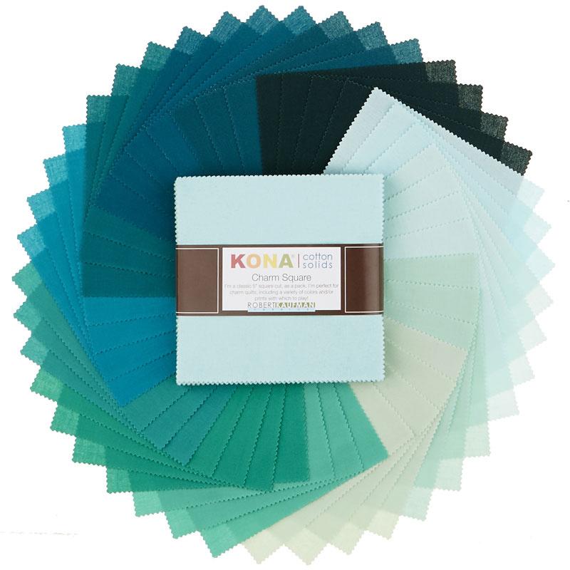Kona Cotton - Lush Lagoon Charm Pack