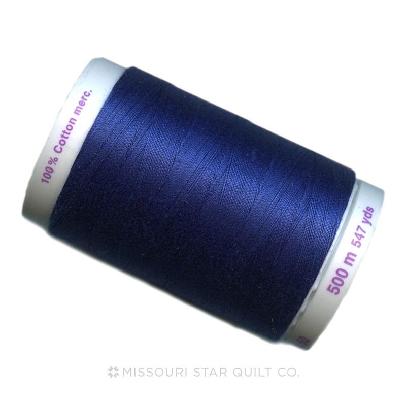 Mettler 50 WT Cotton Silk Finish Thread Imperial Blue