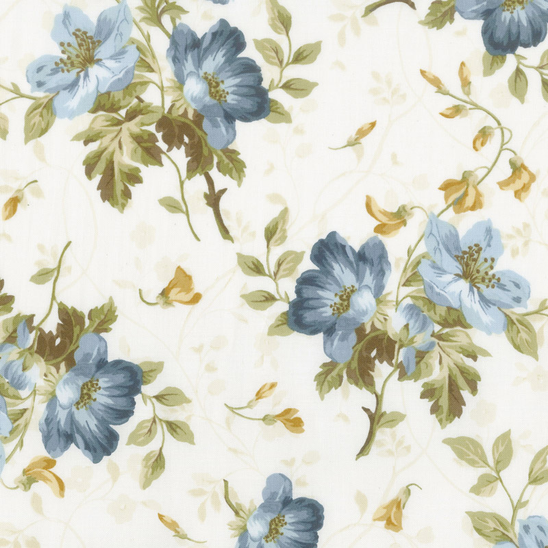 English Countryside - Spaced Floral Natural Yardage