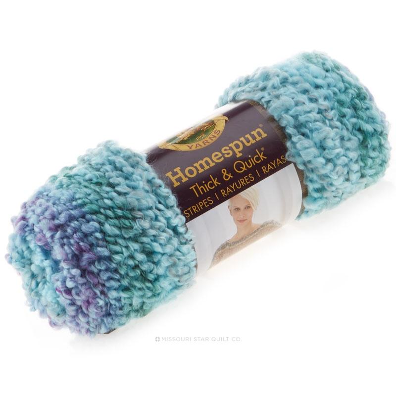 Homespun Thick Quick Yarn Seaglass Stripes Lion Brand Yarn Company