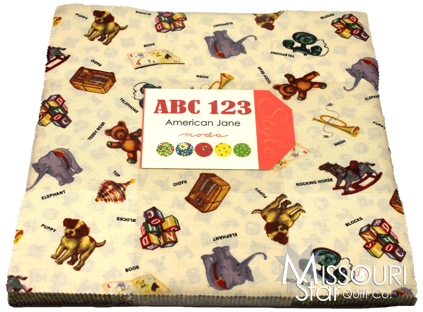 Abc 123 Layer Cake American Jane Moda Fabrics