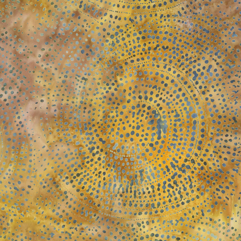 Tonga Batiks - Colorwheel Forest Dotty Spiral Spice Yardage