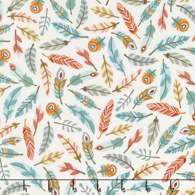 Camp - A - Long Critters - Feathers Ecru Yardage