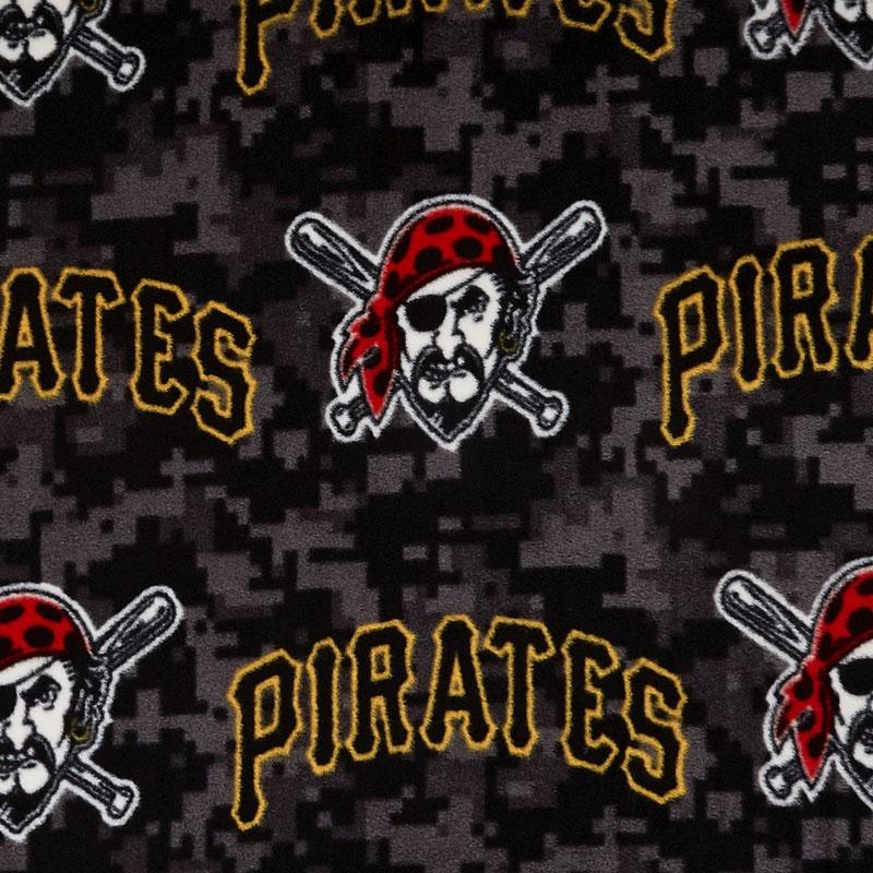 Mlb Fleece Pittsburgh Pirates Black Yardage Fabric