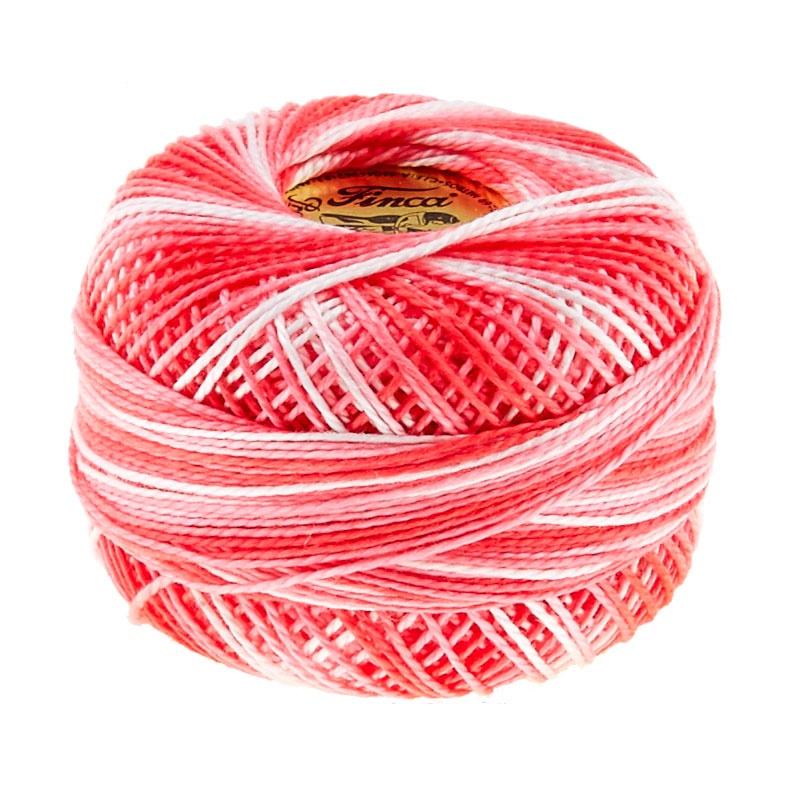 Presencia Perle Cotton Thread Size 8 Variegated Geranium