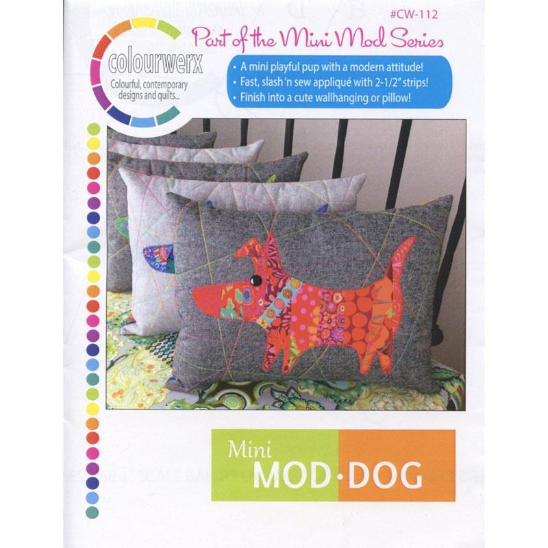Mini ModDog Wall Hanging & Pillow Pattern