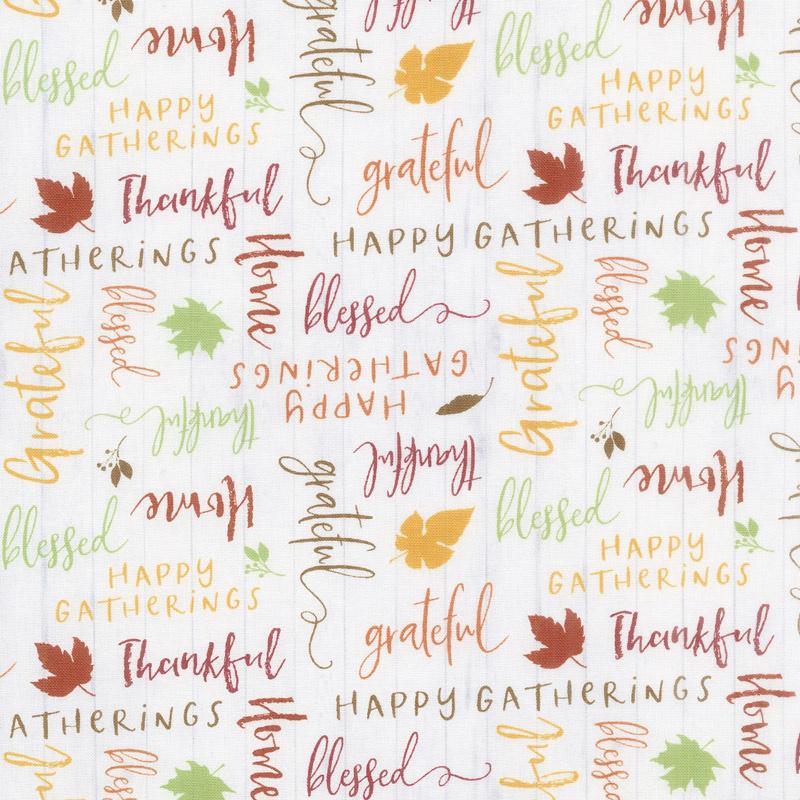 Happy Gatherings - Word Toss White Yardage