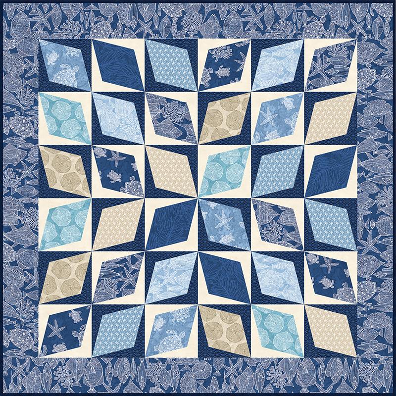 Missouri Star Turtle Bay Diamond Pavers Quilt POD Kit