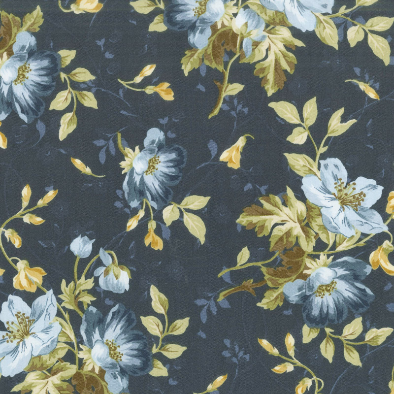 English Countryside - Spaced Floral Navy Yardage