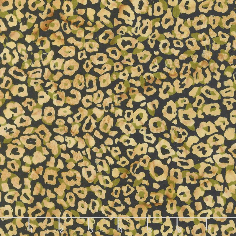 Wild Things Batiks - Leopard Sahara Yardage