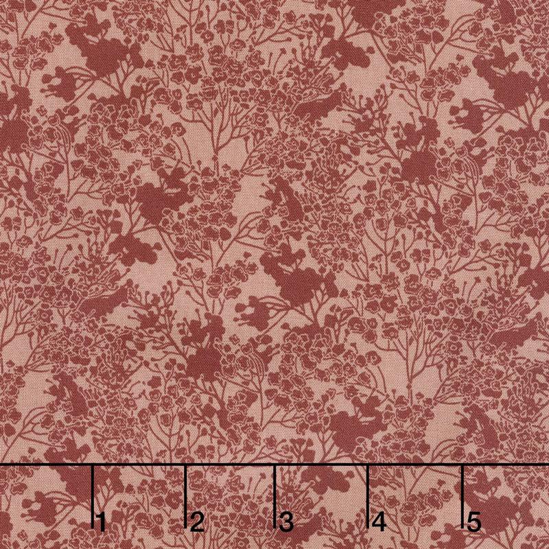 Garden Delights III - Tonal Floral Coral Yardage