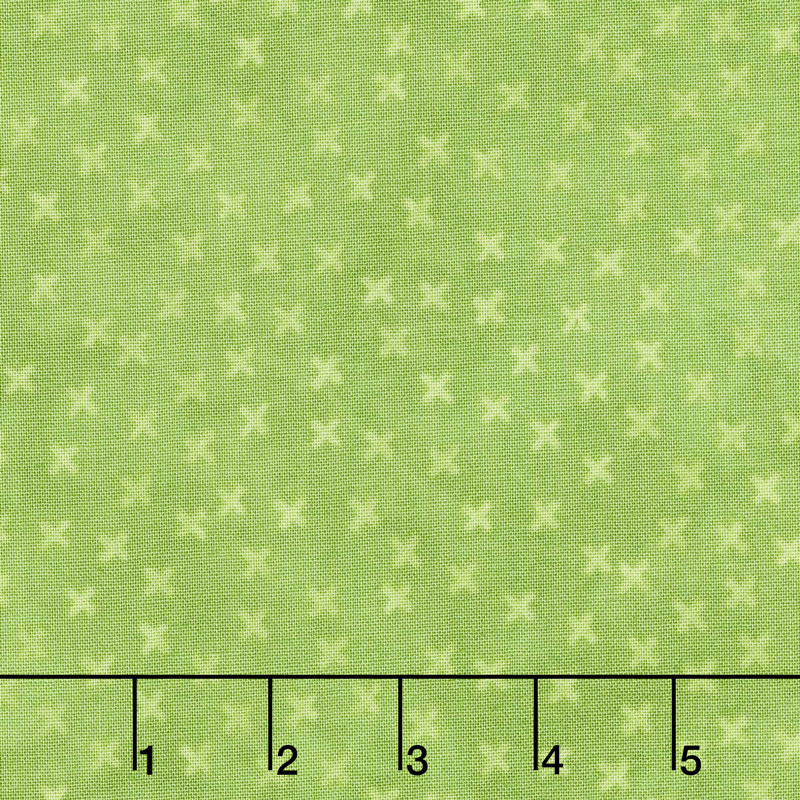 X's and O's - Rainforest Little Kisses Lime Yardage