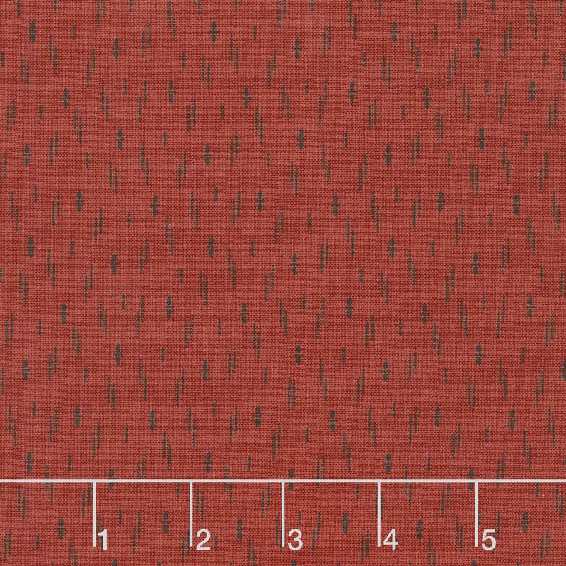Shelbyville - Stacked Dots Brick Red Yardage