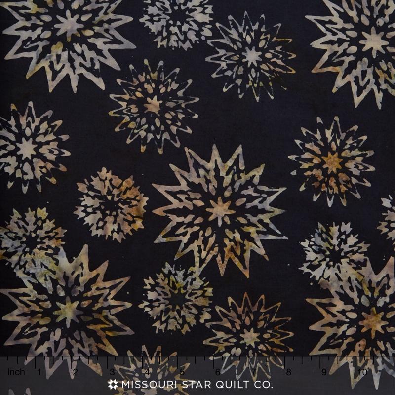 Tonga Batiks - Painter's Palette Snowflake Mix Jet Yardage