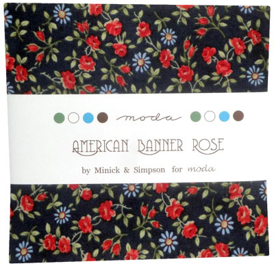 American Banner Rose Charm Pack