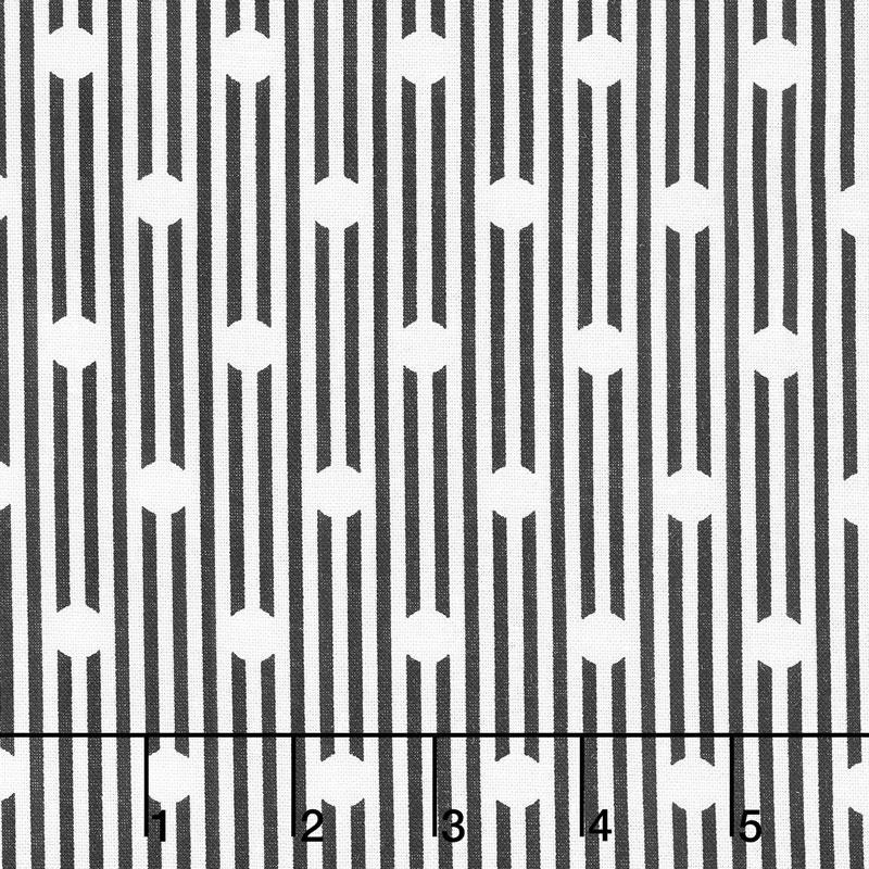 Sweet Stems - Dot Black Yardage