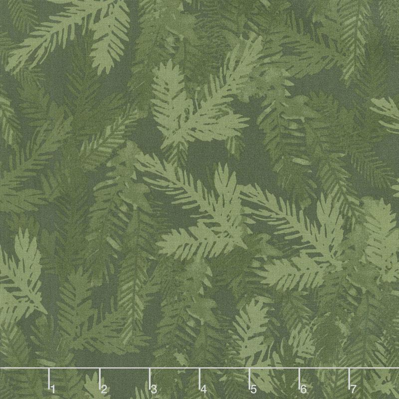 Merry & Bright - Tonal Pine Branch Forest Yardage