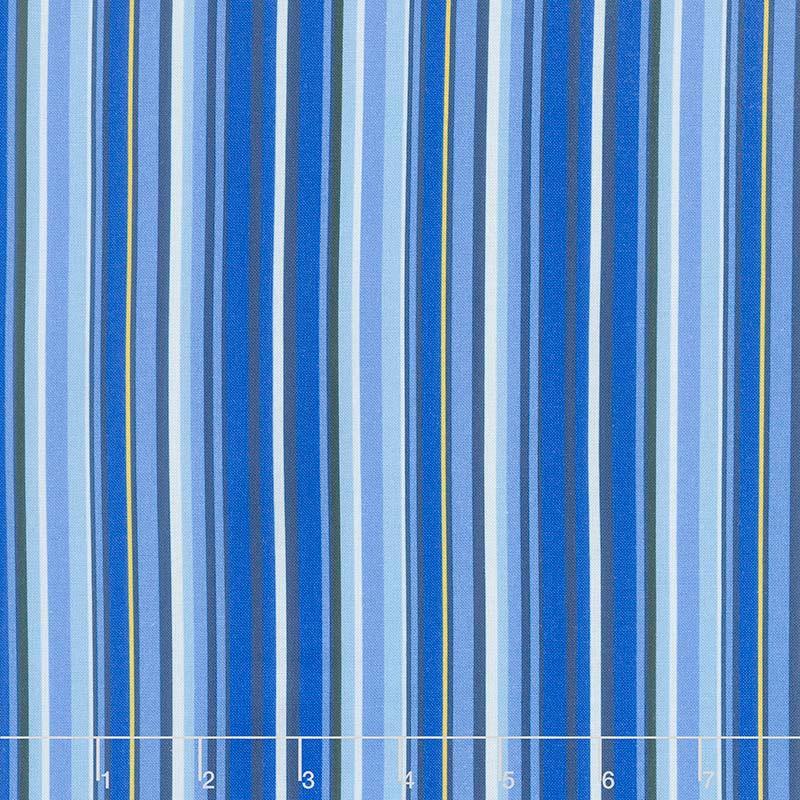 Provencial - Provencial Plain Stripe Blue Yardage