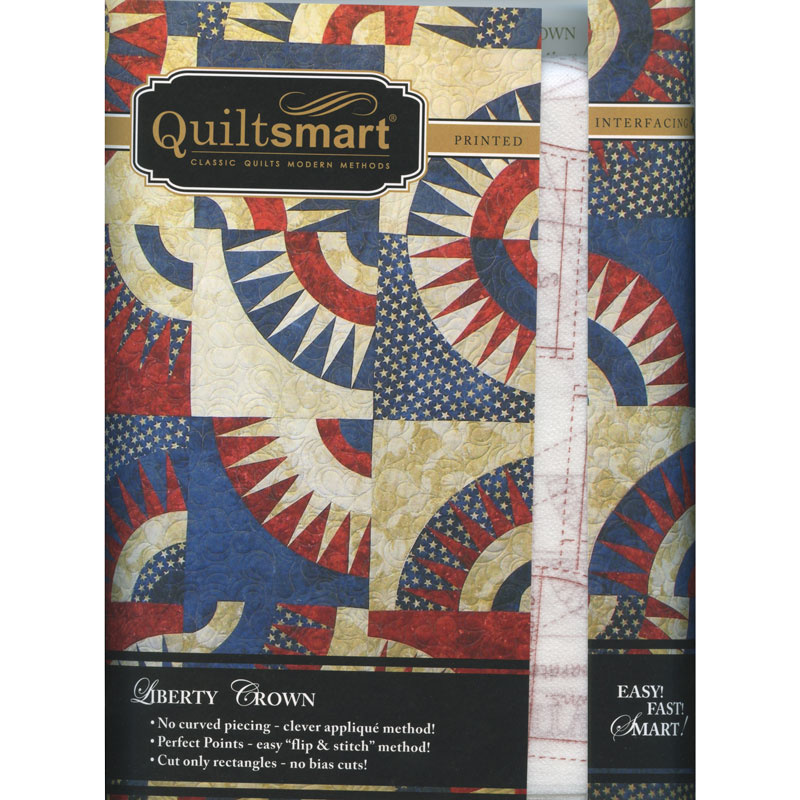 Quiltsmart® Liberty Crown Pattern with Interfacing