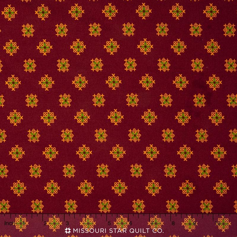 Christmas Gatherings - Paper Cut Cranberry Yardage