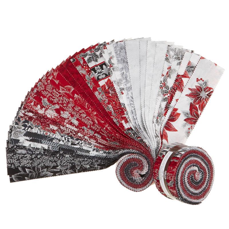 Holiday Flourish 12 Scarlet Metallic Roll Up