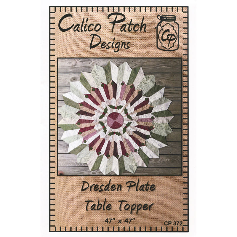 Dresden Plate Table Topper Pattern Calico Patch Designs