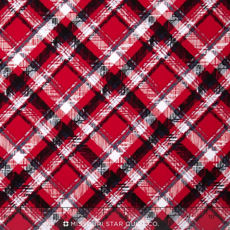 Scottie Love - Pet Plaid Red Yardage