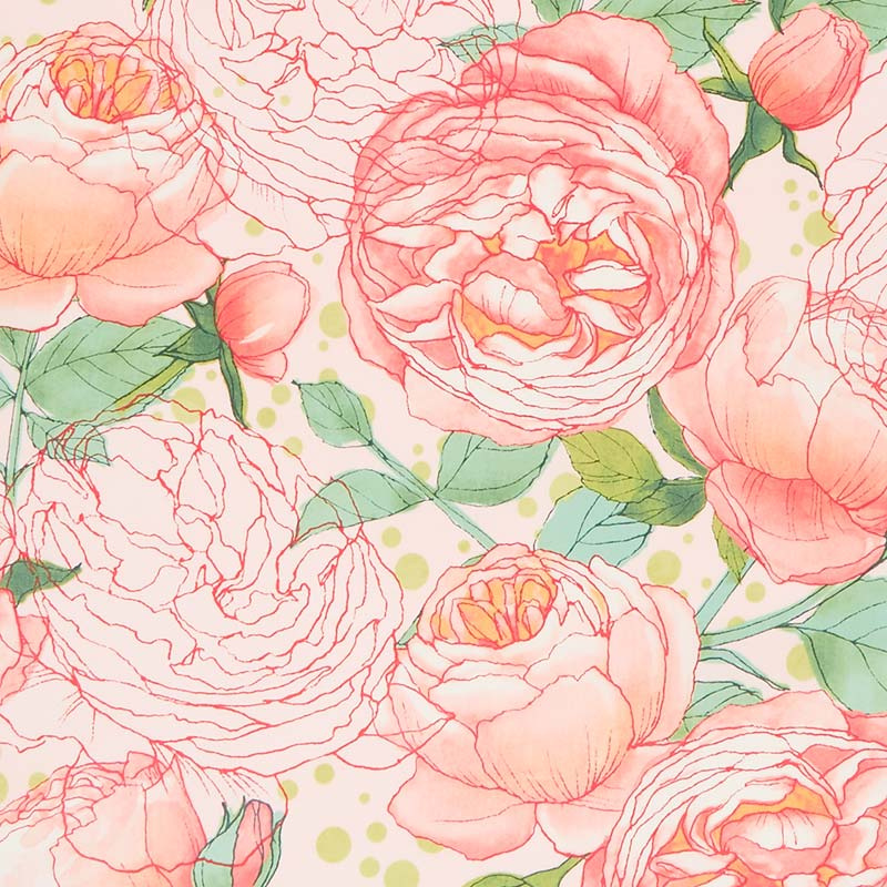 Abby Rose - Cabbage Rose Early Dawn Yardage