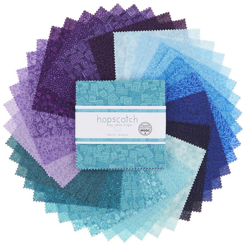 Hopscotch Chill Charm Pack Jamie Fingal Rjr Fabrics