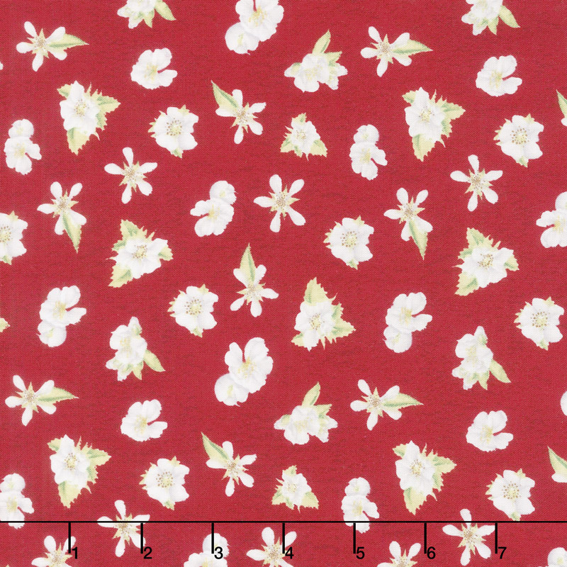 Berry Sweet - Floral Red Yardage