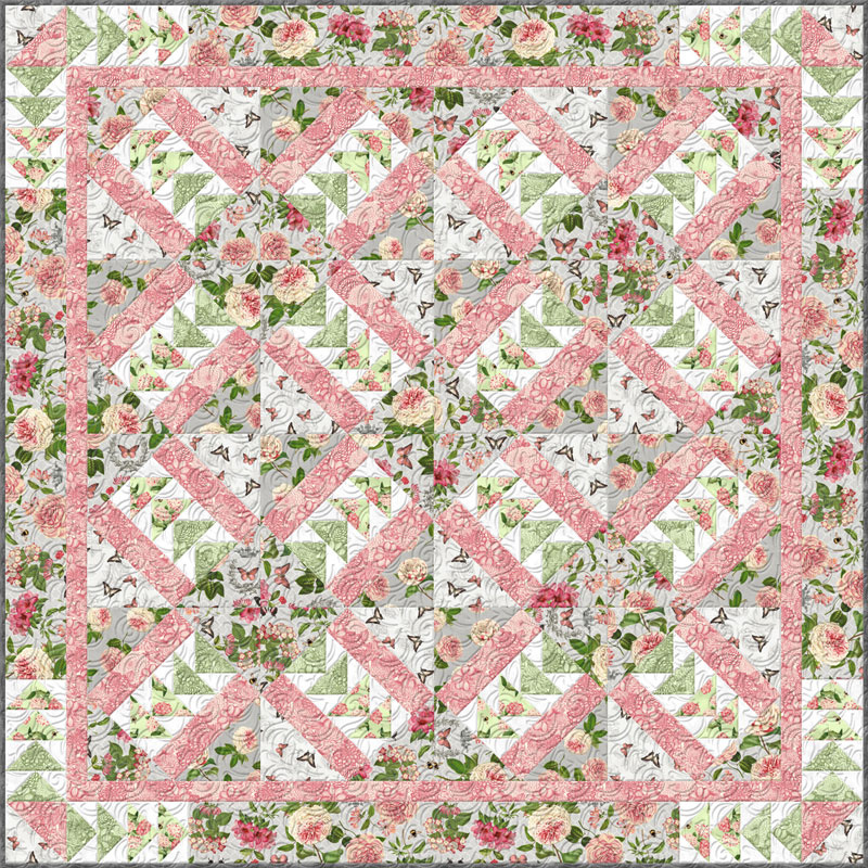 Le Bouquet Bed Quilt Kit
