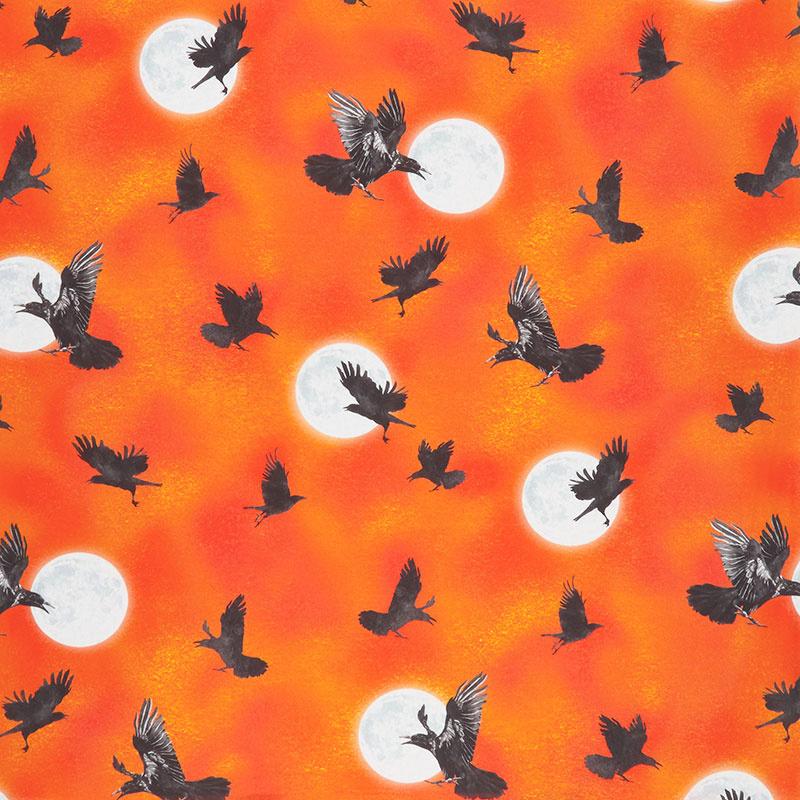 Raven Moon - Ravens Pumpkin Digitally Printed Yardage