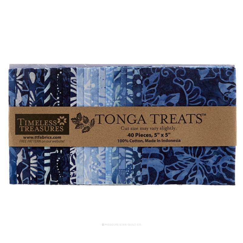 Tonga Treats Batiks - Indigo Dreams Charm Pack
